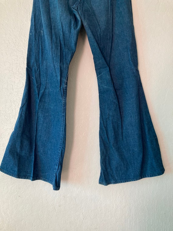 1960s High Waisted Classic Blue Flat Front Sanfor… - image 9