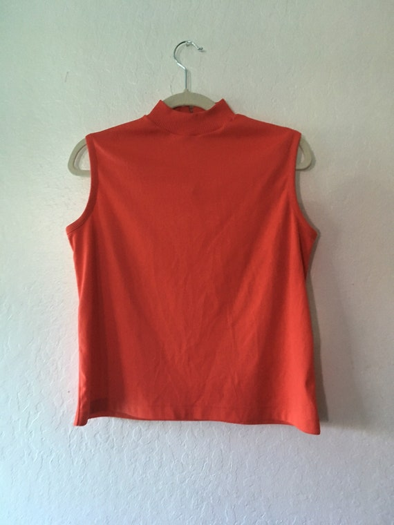 1960s Cherry Bomb Muscle Tee Mock Neck Top