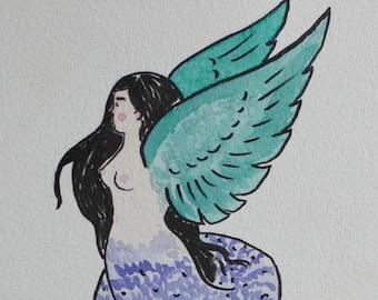 snake harpy - original painting