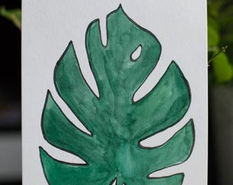 monstera philodendron original painting