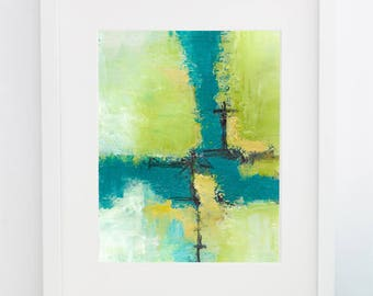 Make Your Mark - Cold Wax Painting - 8x10 Matted