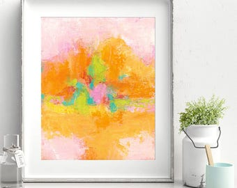 Dash of Sugar - Cold Wax Painting - 8x10 Matted
