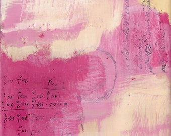 """Working it Out - Encaustic - 6""""x6'"""