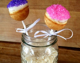 Mini Baked Donut Hole Pops / Individually Wrapped Favors