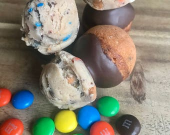 Monster Eggless Cookie Dough Mini Donut Holes
