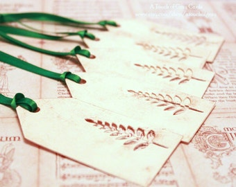 Christmas Tags (Double Layered) - Christmas Tree Tags (B) - Cut-Out Tags- Handmade Vintage Inspired Christmas Gift Tags - Set of 5