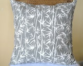 Pillow Cover Gray Bamboo 18 x 18 - Last One - Hurry up at this price be the one to get it