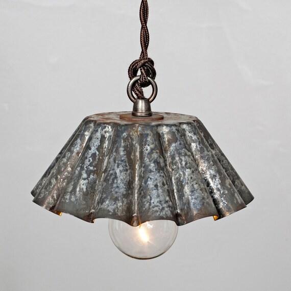 Items Similar To Lighting Rustic Chandelier Vintage 1920 S: Items Similar To Brioche Tin Pendant Light (SM)