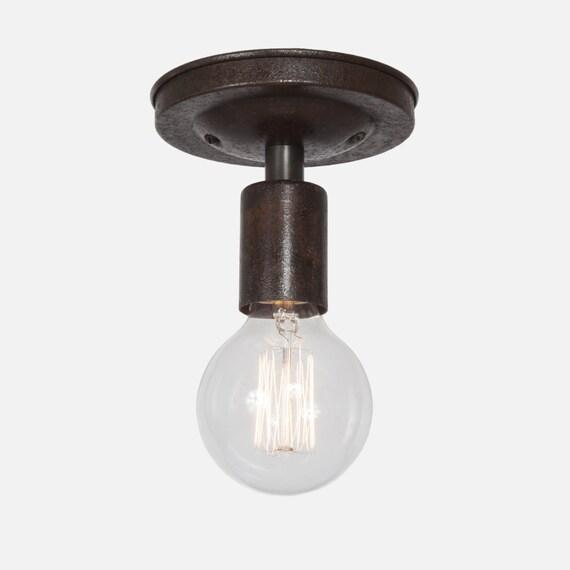 Ceiling Light - Flush Mount Ceiling Light Fixture - Ebonized Brass Ceiling  Lighting - Kitchen Lighting - Kitchen Light - Bathroom Light