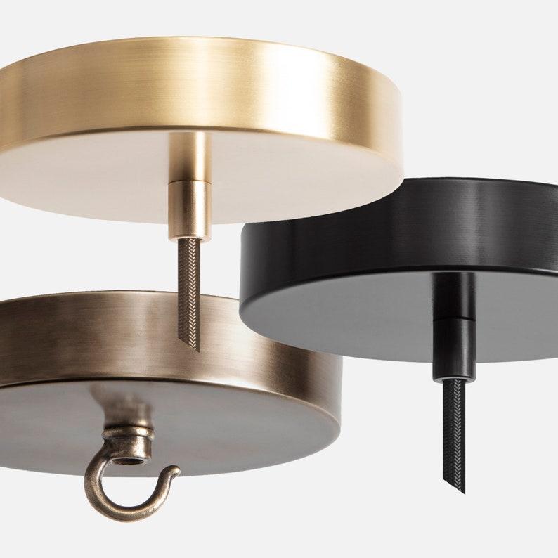 Merveilleux Pendant Light Ceiling Canopy Kit, Chandelier Mount Hook, Pendant Hardwire  Kit, Ceiling Mounting Kit, Lighting Canopy Kit, Brass Black Bronze