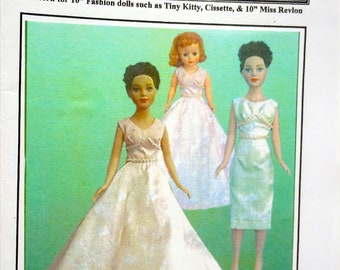 """The Wedding Day sewing pattern for the 10/"""" Tiny Kitty Collier doll by Tonner"""