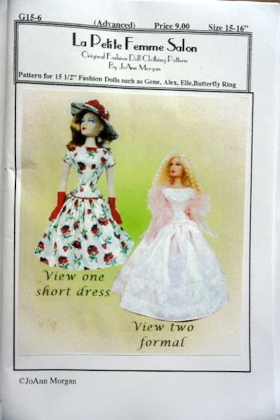 Sweet Violet sewing pattern for the Gene Marshall doll by Ashton Drake