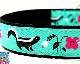 Skunk Dog Collar, Stinky Dog Collar, Garden Dog Collar, Spring Dog Collar, Adjustable Dog Collar, Smelly Dog Collar