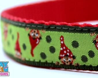 Christmas Elves, Adjustable Dog Collar, Winter Dog Collar, Christmas Dog Collar