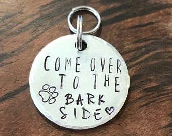Fun Dog Tag, Metal Stamped, Handmade, Pet Tag, Pet ID Tag, Cute Pet Tag, Small Dog Tag, Small Dog, Medium Dog, light weight tag