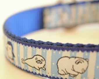 Arctic Animals Adjustable Dog Collar Winter Dog Collar