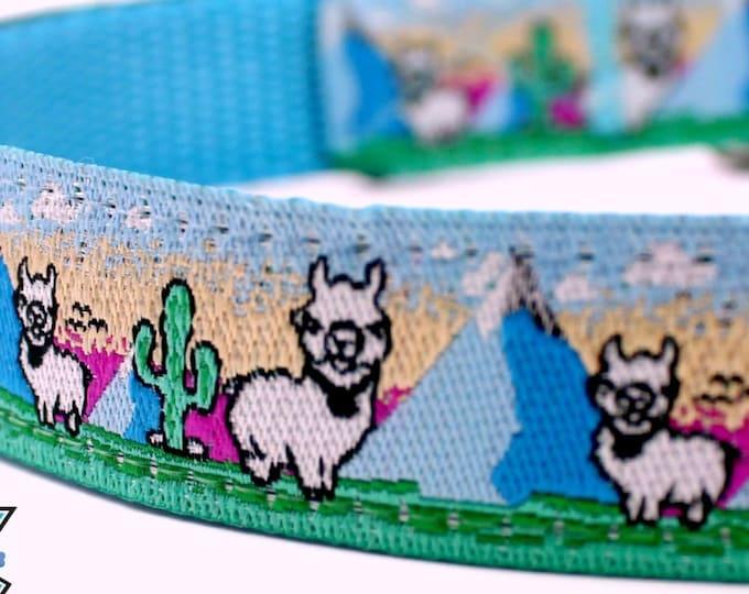 Llama Dog Collar, Alpaca Dog Collar, Adjustable Dog Collar, Mountain Dog Collar