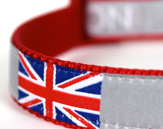 London England Dog Collar - Pet Accessory - Union Jack Collar