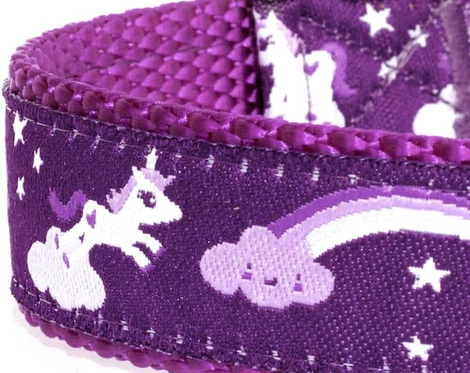 Purple Unicorn Dog Collar, Ribbon Pet Collar, Adjustable Ribbon Pet Collar, Magical Fairy Tale, Extra Dog Collar