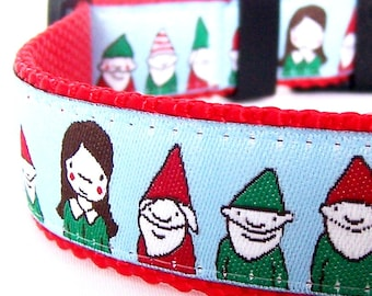 Snow White and the Dwarfs Dog Collar, Fairytale, Cute Pet Collar, Adjustable Ribbon Collar