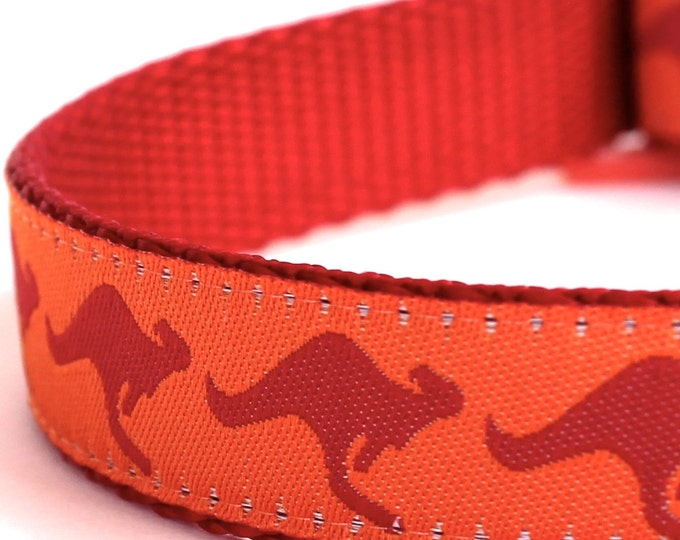 Kangaroo Dog Collar, Australia Theme Pet Collar Adjustable Down Under Collar