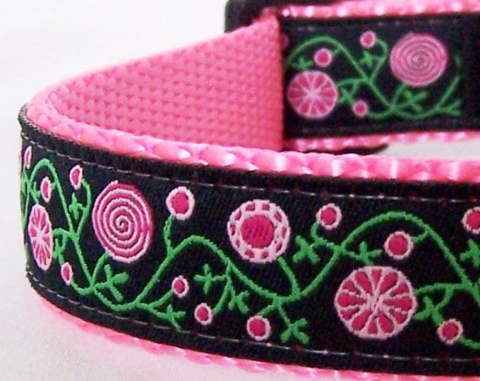 Peppermint Gardens Pretty Floral Adjustable Dog Collar