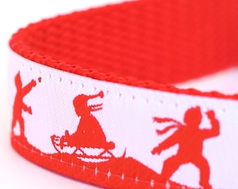 Snow Fun Dog Collar, Winter Pet Collar, Christmas, Holiday Dog Collar