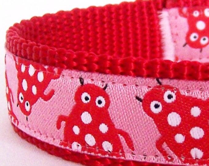 Itty Bitty Beetles Dog Collar - Ribbon Dog Collar - Adjustable