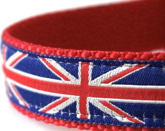 British Flag Dog Collar, Union Jack Dog Collar, London Dog Collar, Royal Dog Collar