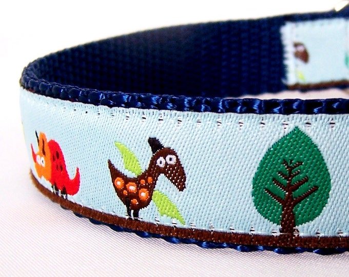 Dinosaur Dog Collar Cute Prehistoric Dinosaurs T-Rex Dog Collar Adjustable Pet Collar