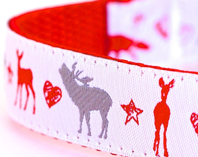 In The Wild Dog Collar, Winter Pet Collar, Christmas, Holiday Dog Collar