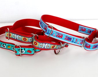 Make Mine a Martingale Dog Collar / 1 inch width / big dog / Adjustable