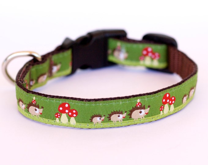 Hedgehog Dog Collar, Teacup, Kitty Cat, 1/2 inch width, Puppy