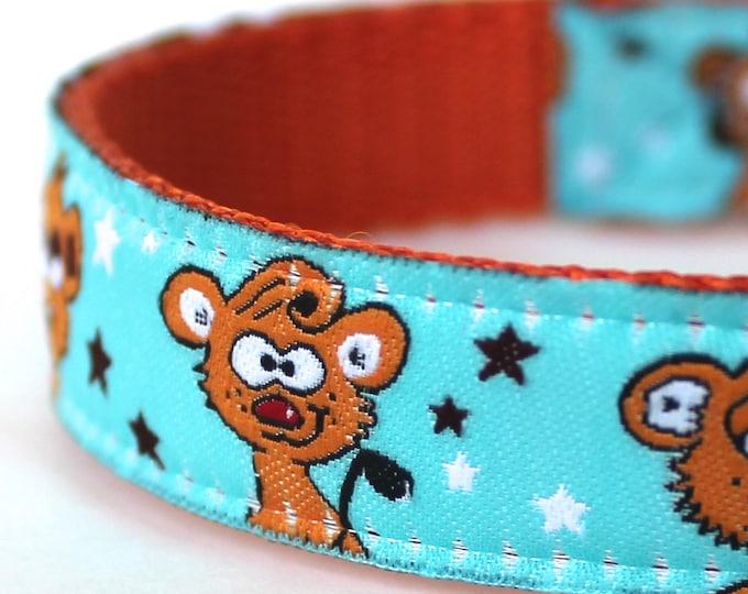 Goofy Bears Dog Collar / Adjustable / Ribbon Dog Collar