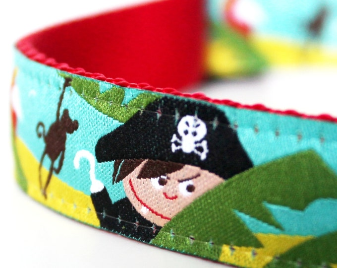 Pirate Adventures Dog Collar  / Adjustable / Boy Dog Collar