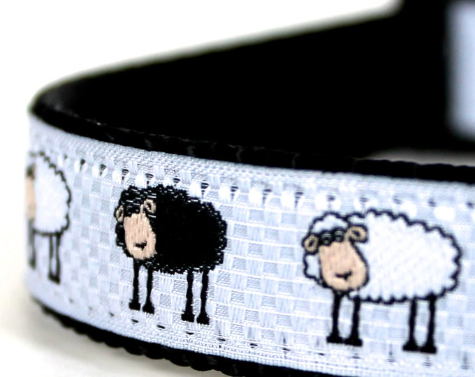 The Black Sheep II Dog Collar,  Pet Accessories, Adjustable Pet Collar, Lamb