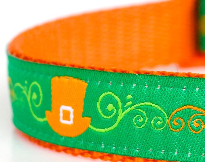 Leprechaun Hats Dog Collar, Green Pet Collar, St. Patrick's Day, Lucky Dog