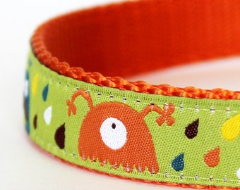 It's Raining Monsters Dog Collar / Adjustable Dog Collar/ European Ribbon Collar