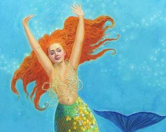 Seraya - mermaid print