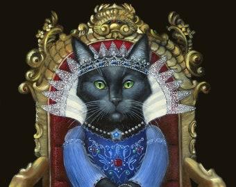 Queen Pookie - cat print