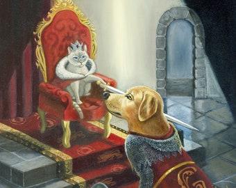Pisa Knighting Gator - dog and cat print