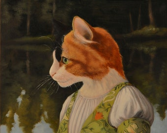 Zooey by the Lake - cat print