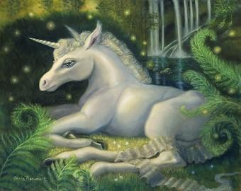 Seraphina Shadowmere - unicorn print