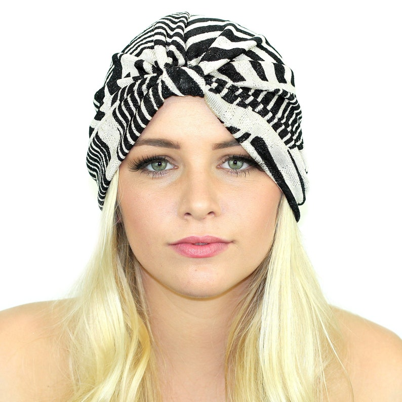 23de06bc788 Color Block Sweater Knit Turban   Full Turban Hat   Kristin