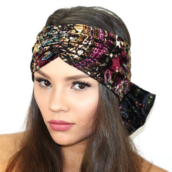 2de231b4d56 Burnout Velvet Bow Headband   Womens Bow Headband   Velvet
