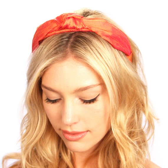 Kristin Perry Dupioni Silk Top Knot Headband Hair Accessories