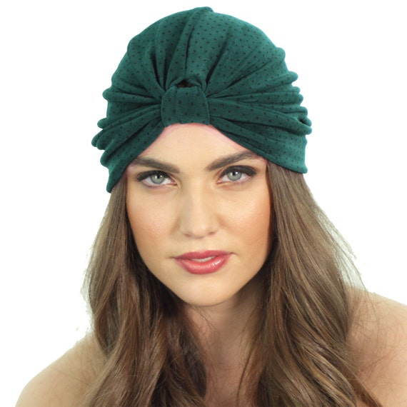 4ebdb331f29 Slinky Green Full Turban   Stretch Knit Headwrap   Green