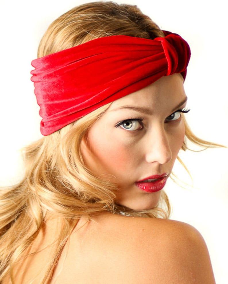 05ee7e2aa94 Velvet Turban Headband   Red Velvet Headband   Kristin Perry