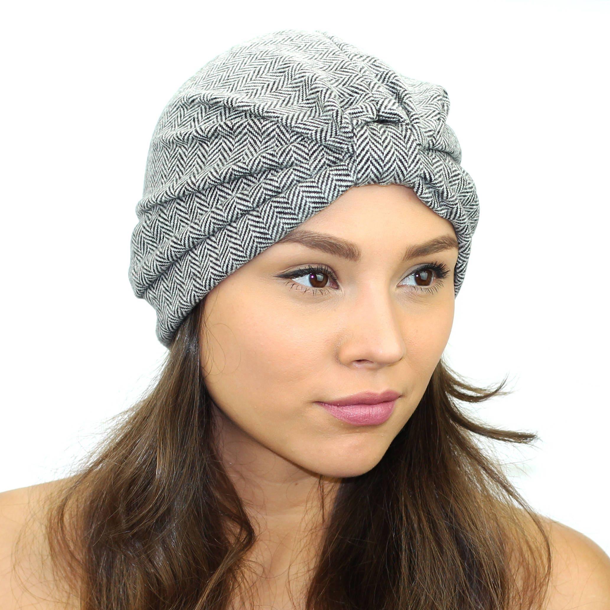9887d9cb54d Chevron Full Turban   Women s Turban Hat   Winter Turban