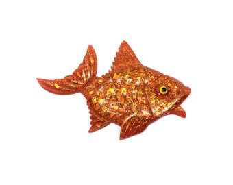The Fairytale Fish - Vintage Style Confetti Lucite Reproduction Brooch